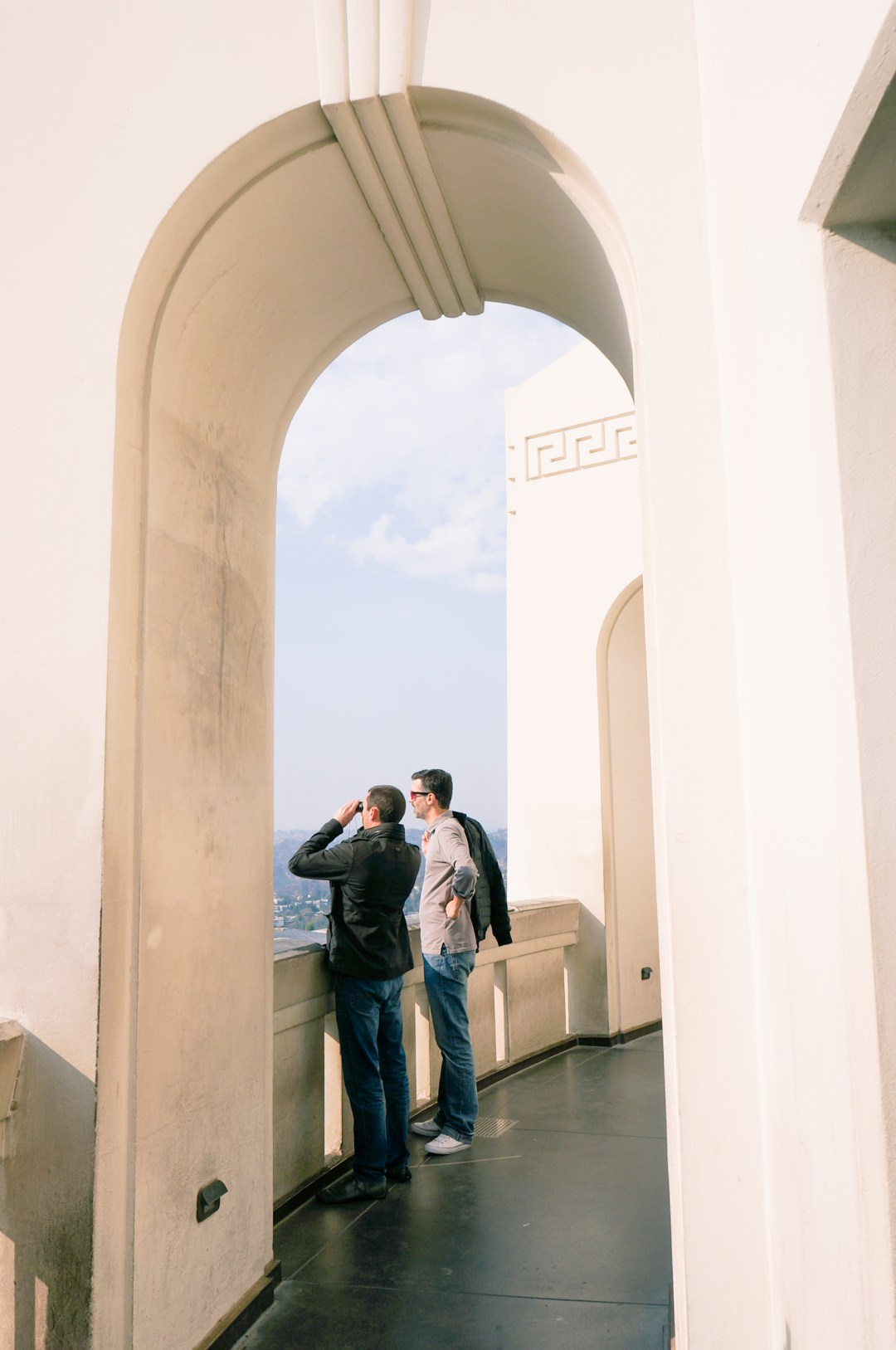 griffith observatory arches and art deco details
