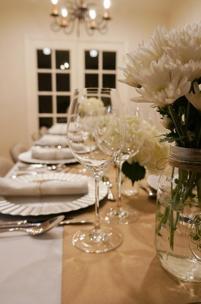 table settings for an italian wine dinner