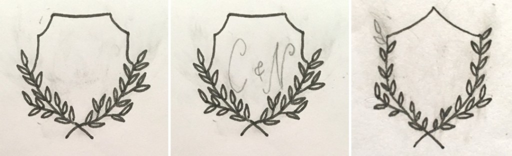 sketches of our wedding monogram designs