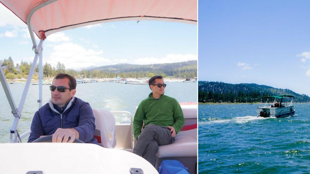 pontoon on big bear lake