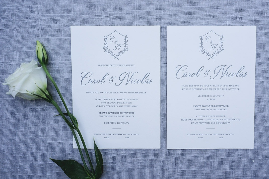 French and English Wedding Invitations