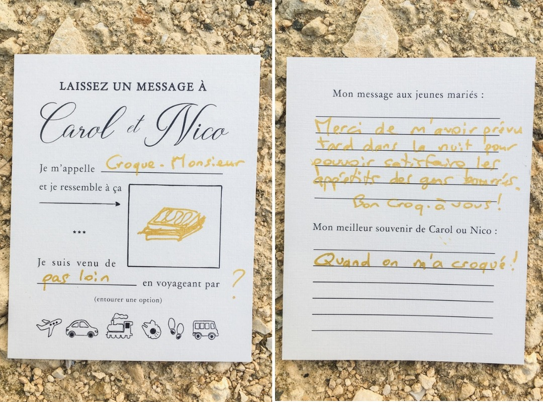 Croque Monsieur Welcome Card