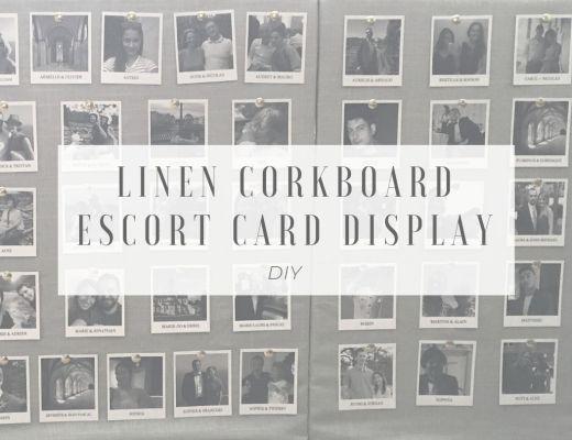linen corkboard diy