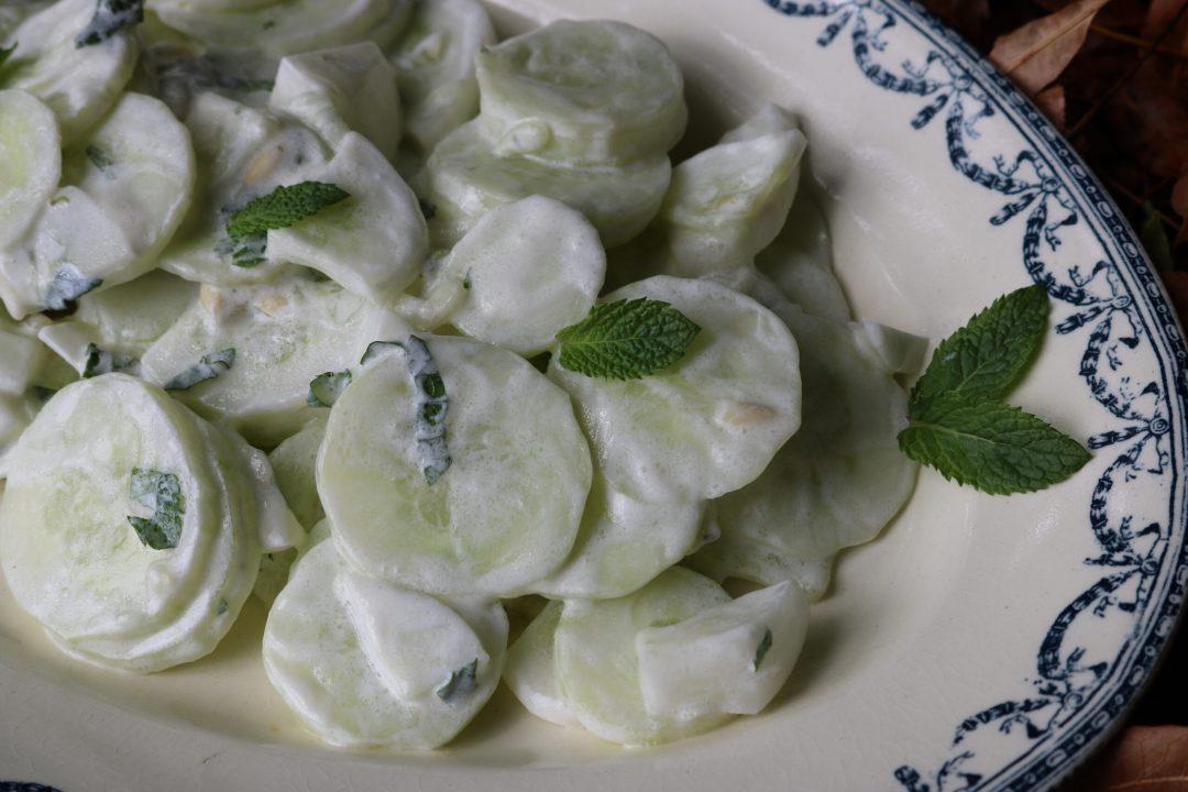La salade de concombre finale