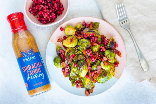 Sriracha Tahini Brussels Sprouts