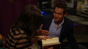 When he gave Des an antique journal that he supposedly just found on his travels and had to share with her.