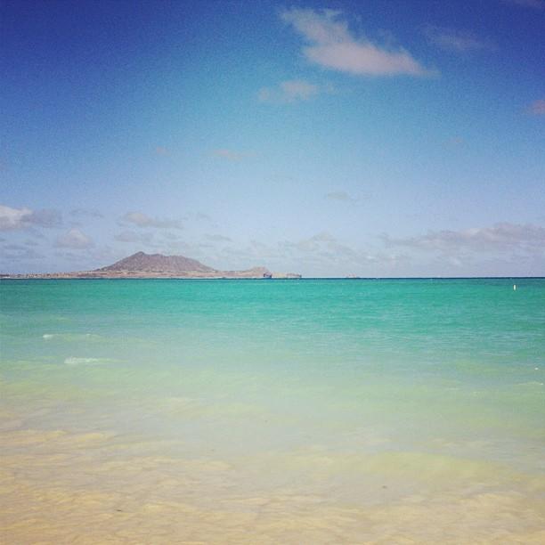 Kailua Beach Park in Oahu, Hawaii