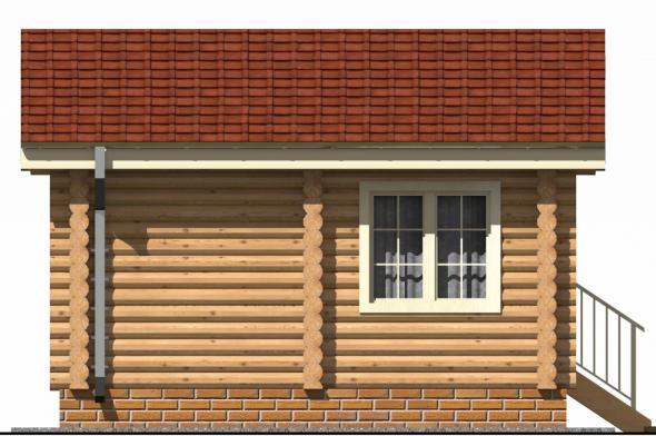 Недорогая деревянная баня с душевой и комнатой отдыха ...