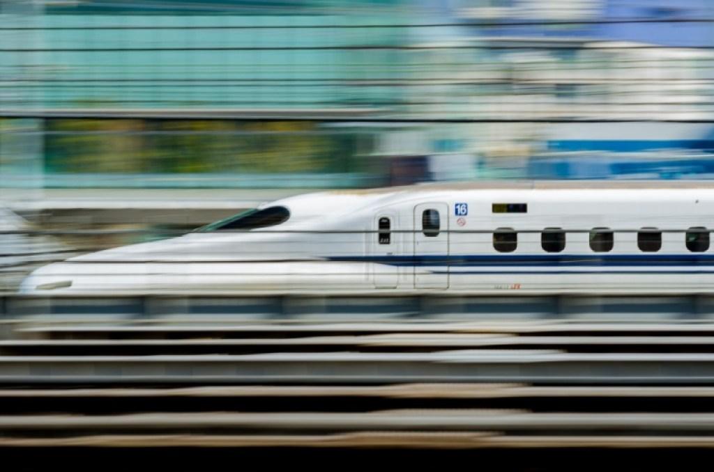 Photo of bullet train in Japan