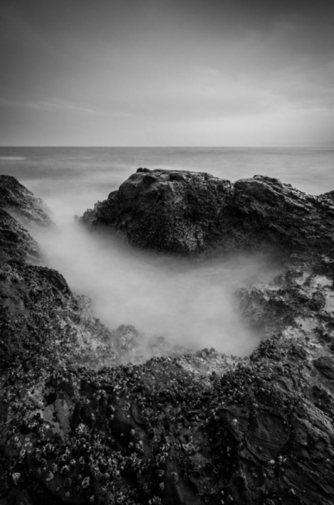 Black and white photo of Enoshima Japan