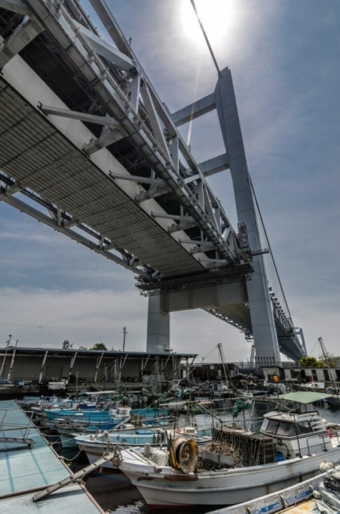 Boats Beneath Bridge