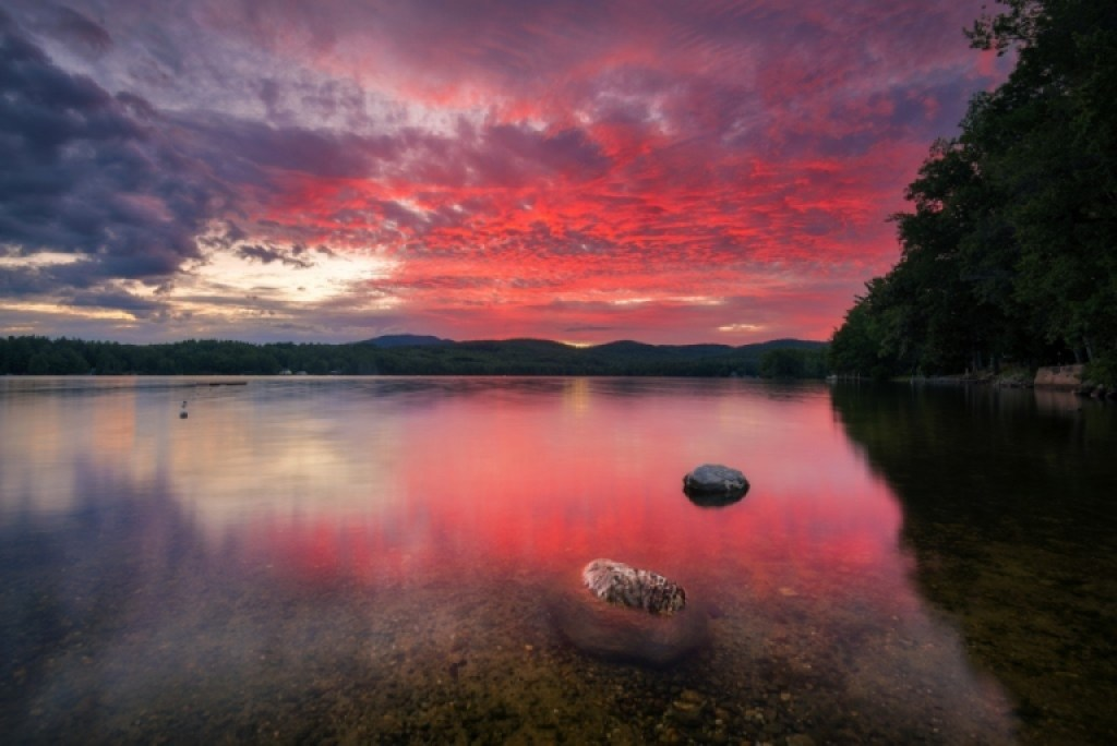 Sunset on Highland Lake New Hampshire