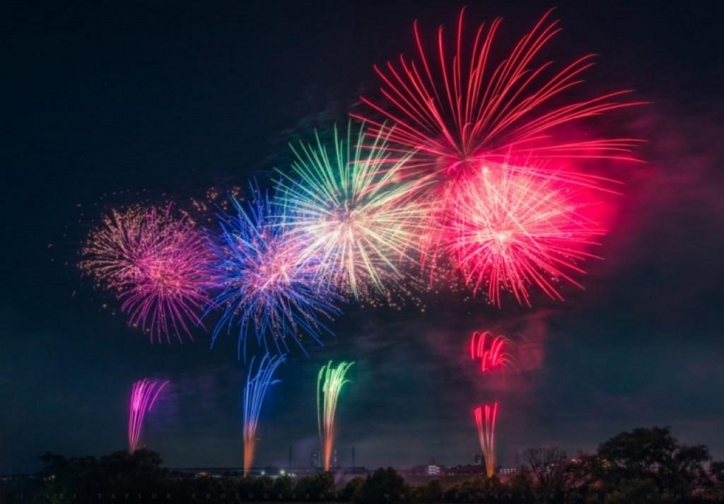 summer fireworks japan