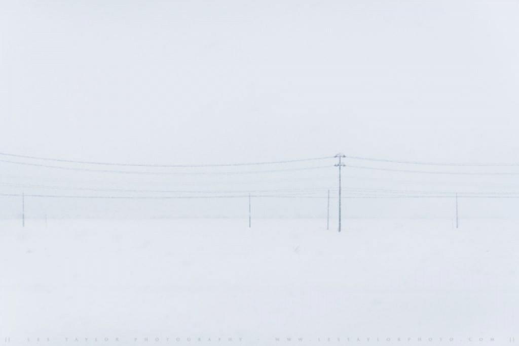 Power Lines And Snow Akita Japan