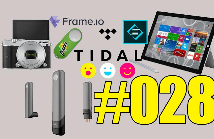 #28: Microsoft Surface 3, Nikon 1 J5, Facebook Riff, Asus Chromebit, Amazon Dash Button, Tidal, Adobe Slate,…