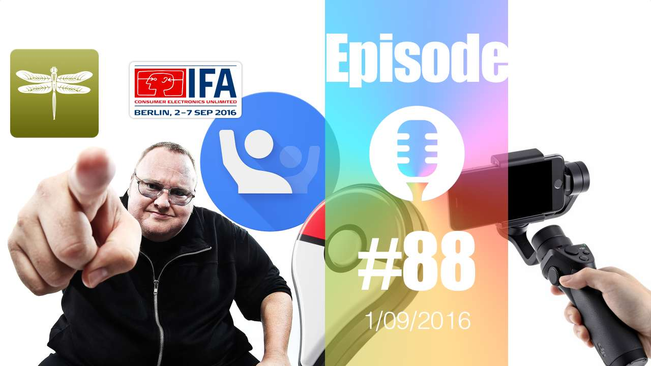 #88: BitCache, Crowdsource, Alexa, Dropbox, Google Duo, IFA 2016, Osmo Mobile, DreamPad, Pokemon Go,…