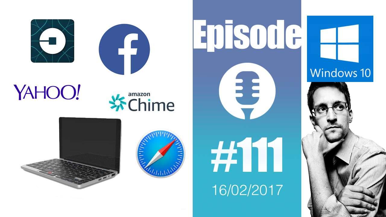 #111: Amazon Chime, Autoplay chez Facebook, micro-laptop GPD, Nokia 3310, Snowden en offrande,