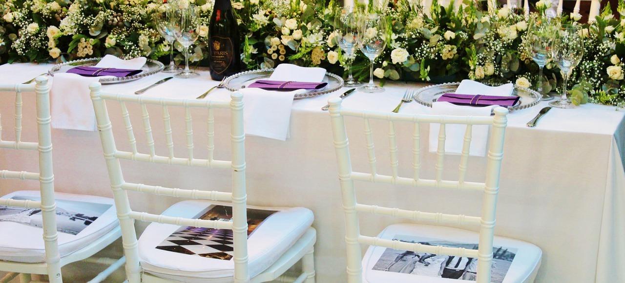 décoration de table mariage fleurs