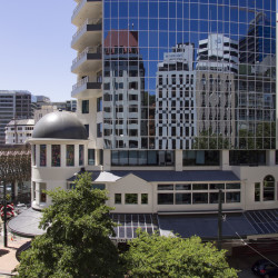 Corner Balance Street & Lambton Quay, Wellington New Zealand.