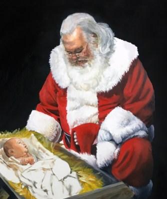 Santa figure finished - closeup