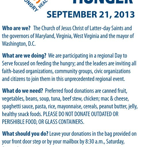 Day to Serve 2013 Doorhanger
