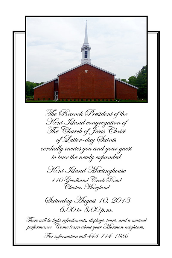Kent Island Open House Invitation, 2013