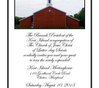 Kent Island Open House Invitation, 2013