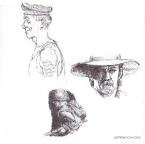 Sketch of Rockwell and Other Heads