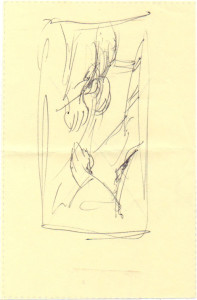 "Original sketch for the painting ""Offering"""