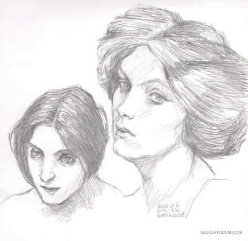 Sketches of Two Waterhouse Heads