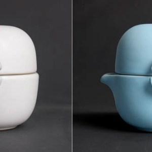 Set de degustation de thé en céramique