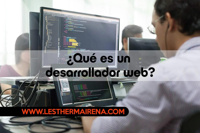 Qué es un desarrollador web