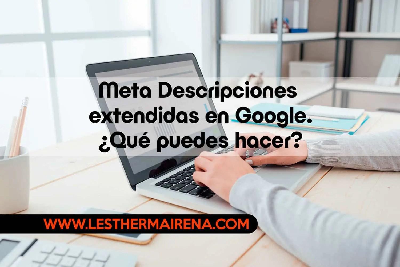 Meta Descripciones extendidas en Google. ¿Qué puedes hacer?