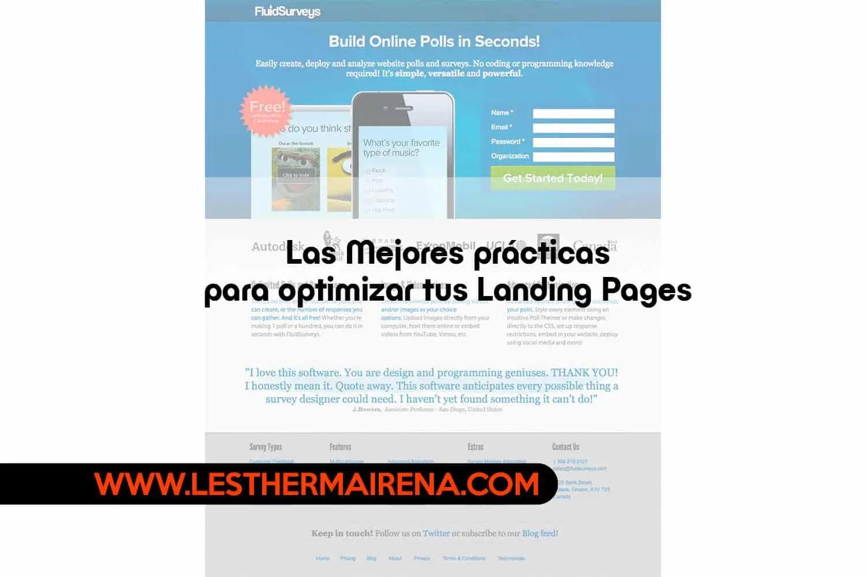 Las Mejores prácticas para optimizar tus Landing Pages o páginas de aterrizaje