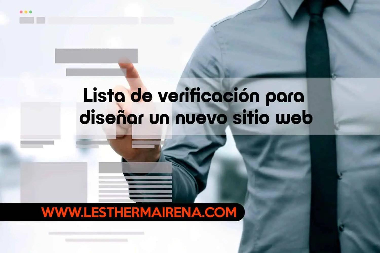 Lista de verificación para diseñar un nuevo sitio web