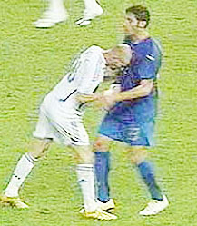 Testata Zidane Materazzi