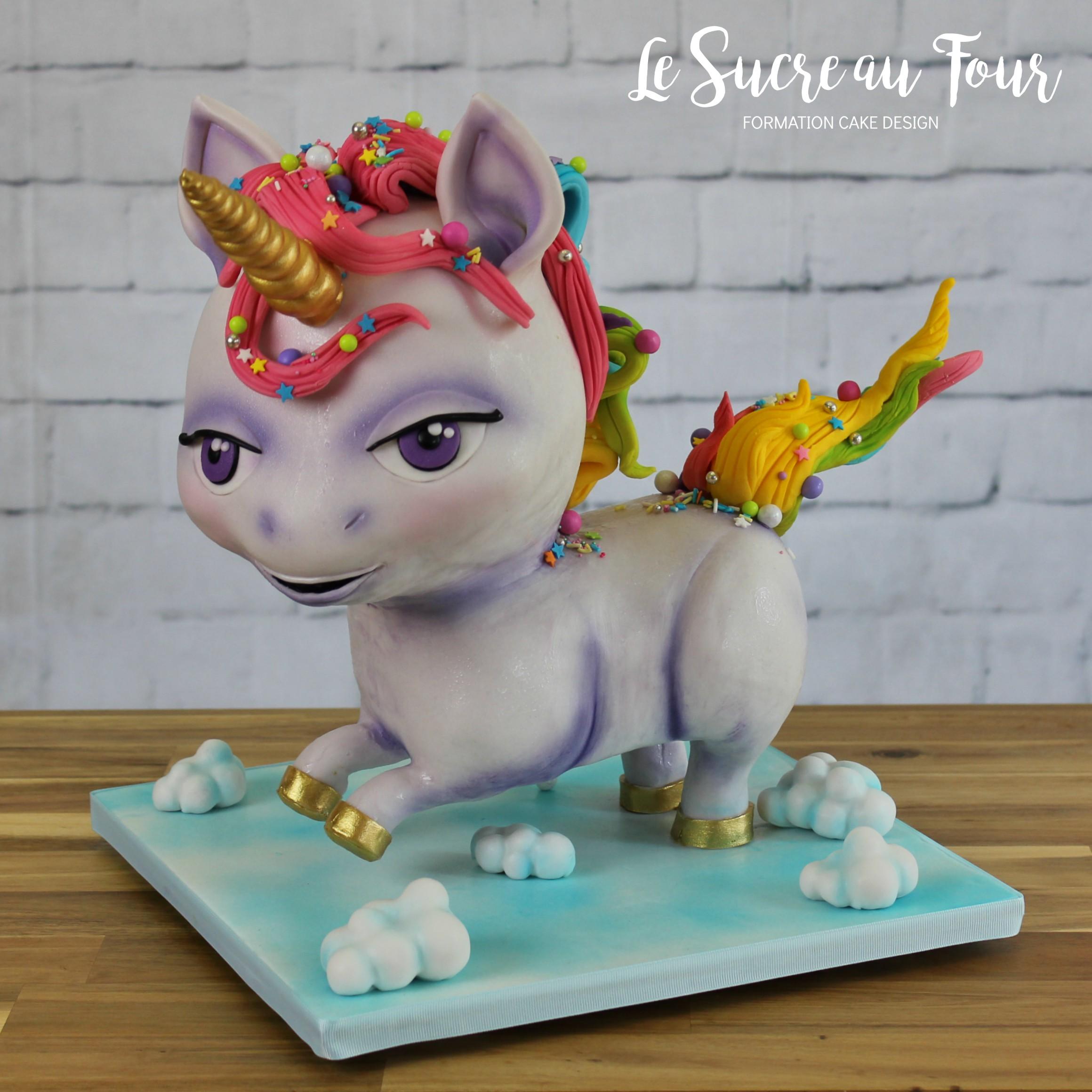Cours de cake design la licorne 3d le sucre au four for Cours de design