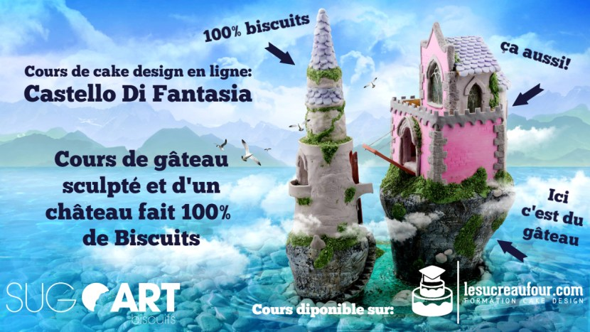 cours cake design château 3D