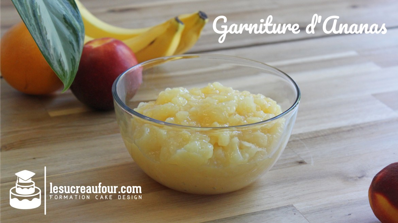 recette garniture d'ananas cake design