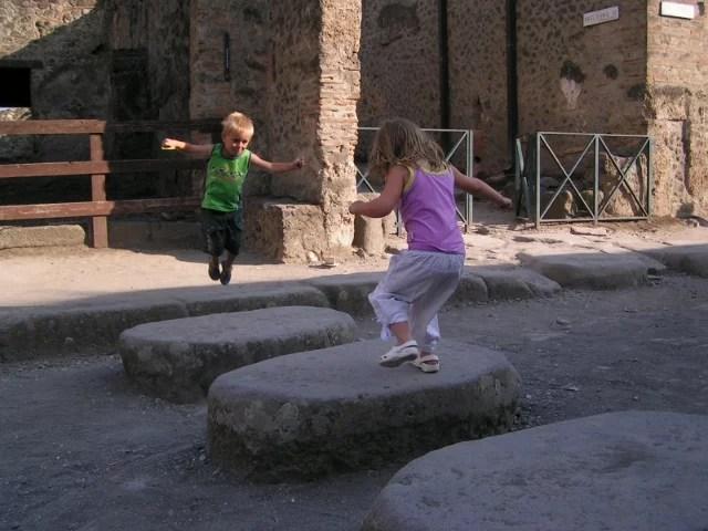 Pompei, un passage piéton