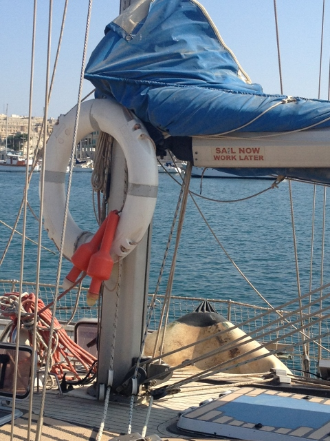 Sail now, work later...