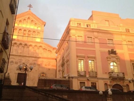 Cagliari, coucher de soleil