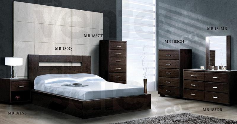 Mobilier Chambre Coucher 6 Mcx 629 Lesventesca