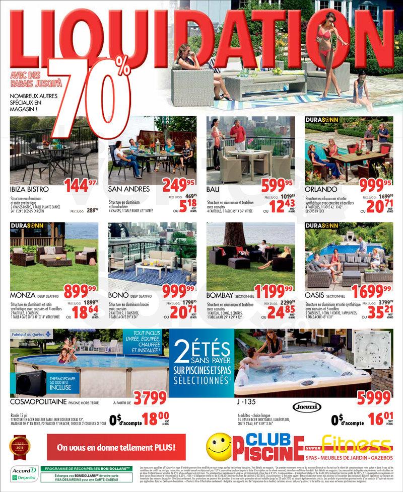 Club Piscine Liquidation 70 De Rabais Lesventesca