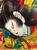 """Cerf-volant japonais """"Edo"""" peint à la main"""