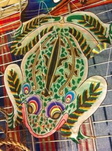 Cerf-volant chinois en soie et bambou