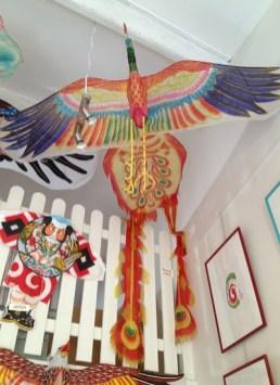 Phoenix chinois et cerf-volant japonais