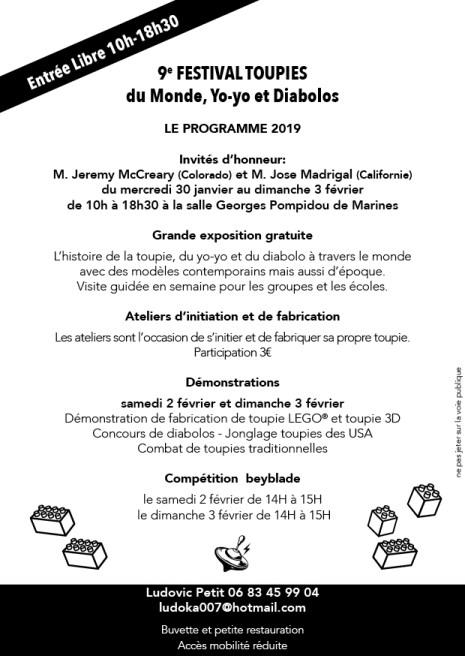 programme 9ème festival des toupies 2019