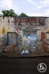 Mur à Gestemani, Cartagena en Colombie