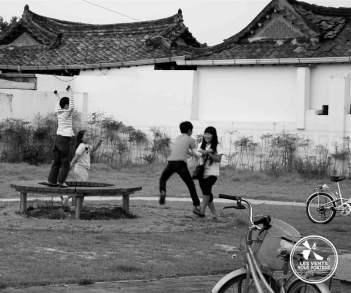Jeunes à Gyeongju Coree-du-sud